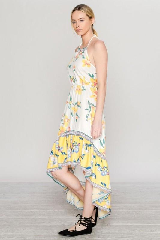Sleeveless Floral Print Maxi Dress available at Celizzione.com