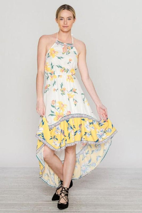 Sleeveless Floral Print Maxi Dress - Available at Celizzione.com