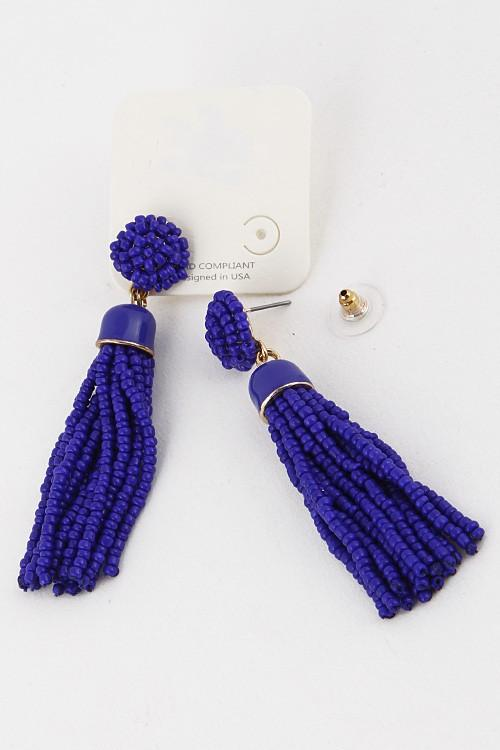Tassel Beaded Earrings - Available at Celizzione.com