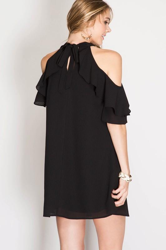 Isabel Cold Shoulder Dress - Available at Celizzione.com