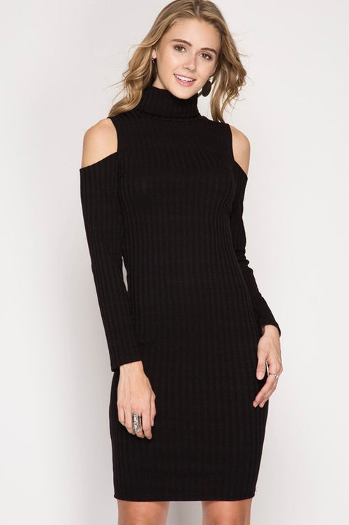 Amanda Cold Shoulder Dress - Available at Celizzione.com