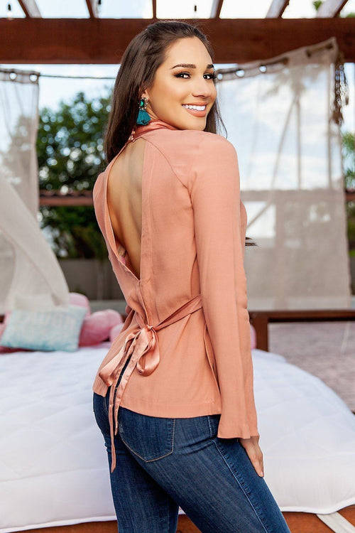 Jane V-Neck Tie Top - Available at Celizzione.com