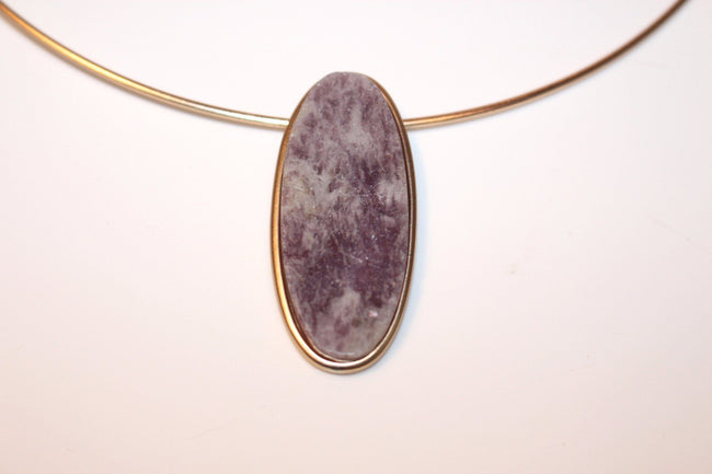 Oval Stone Charm Choker - Available at Celizzione.com