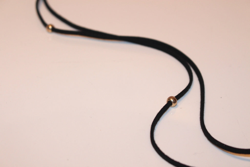 Lovely Ribbon Cord Tie Necklace/Choker - Available at Celizzione.com