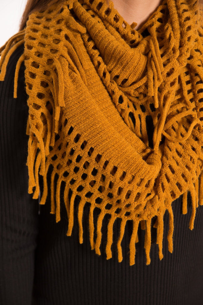 Camel Layered Scarf - Available at Celizzione.com