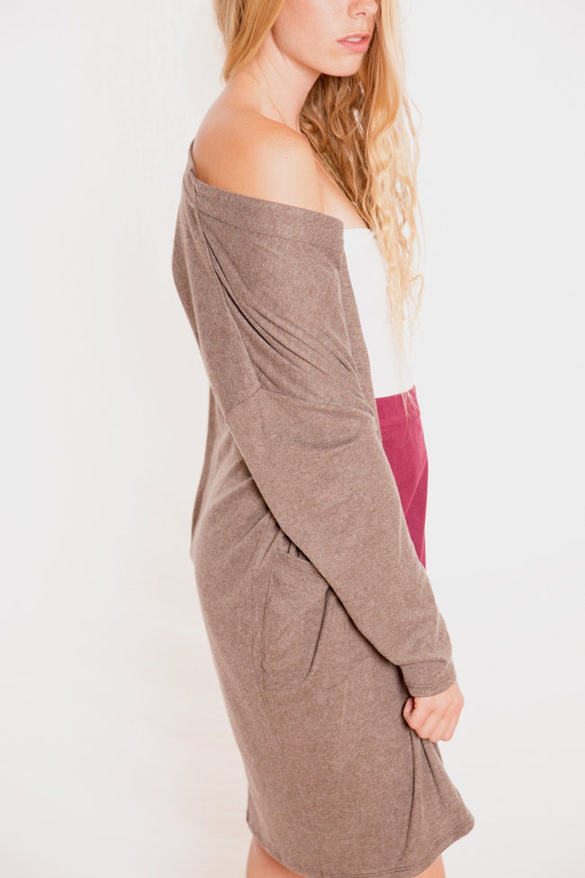 Fine Knee Top Cardigan - Available at Celizzione.com