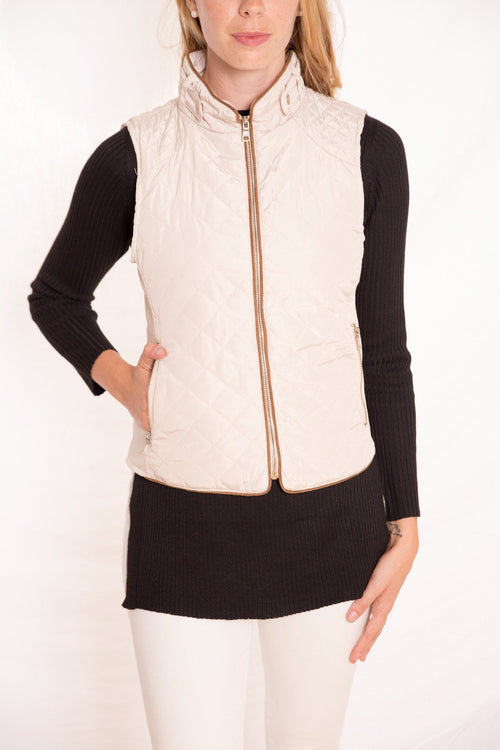 Quilted Zip Front Vest available at Celizzione.com