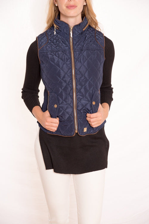 Hoodie Excursion Quilted Down Vest - Available at Celizzione.com