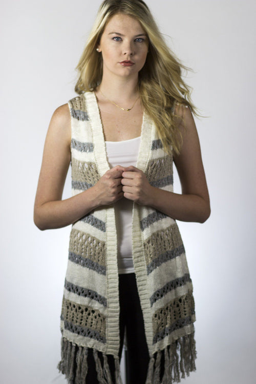 Cardigan Vest - Available at Celizzione.com