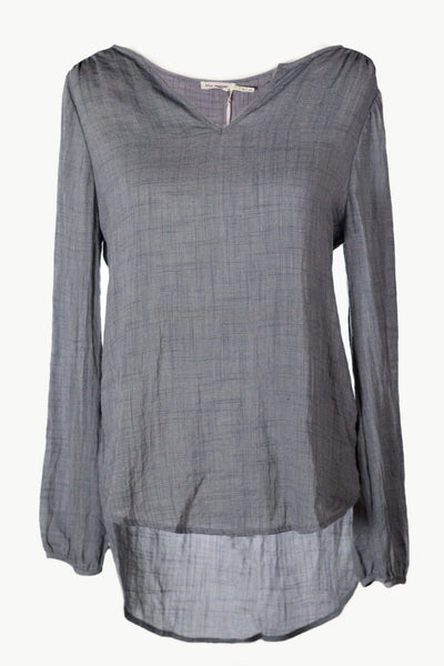 Short V-Neck Woven Top - Available at Celizzione.com