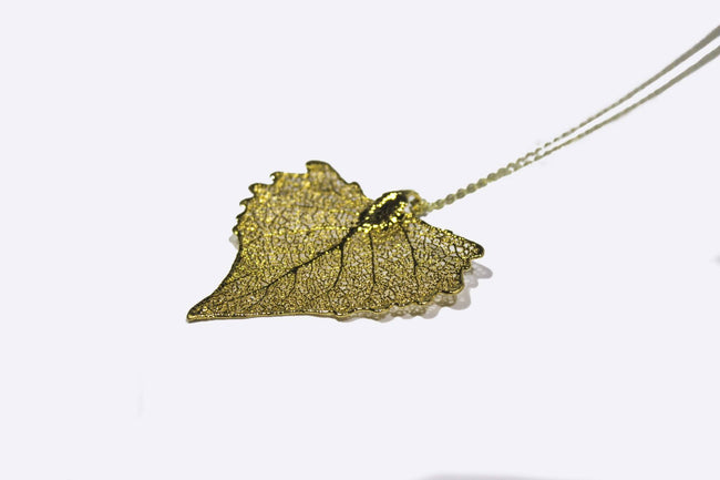 Cotton Leaf Necklace - Available at Celizzione.com