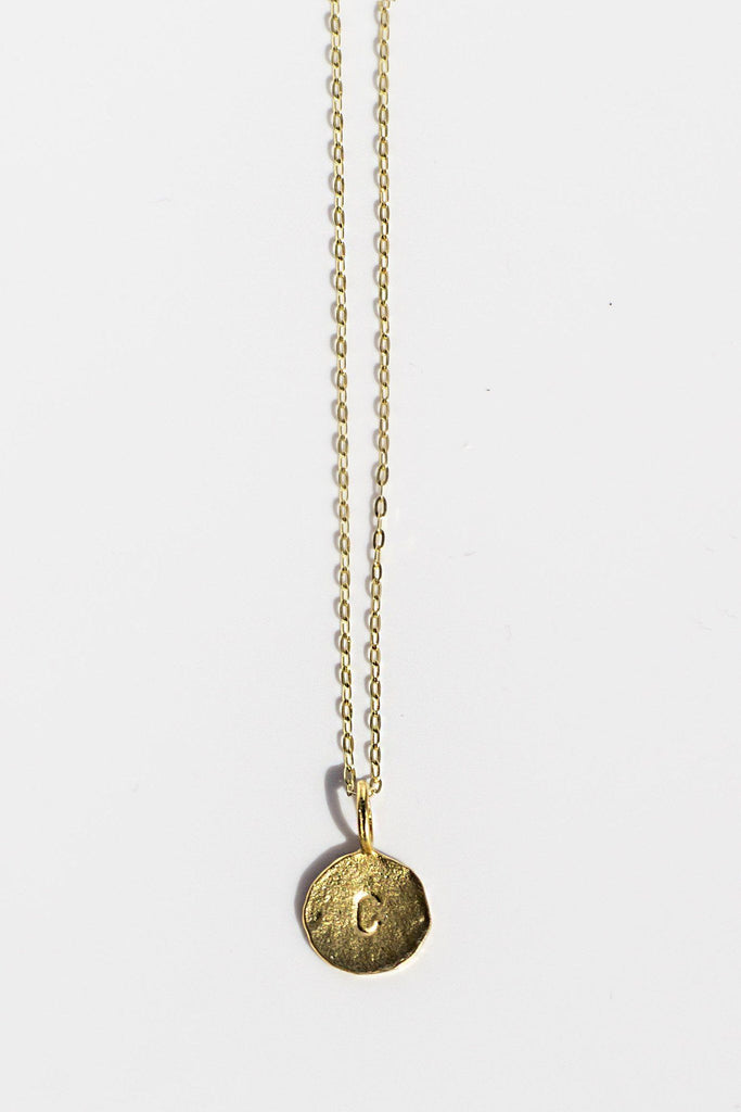 Signature C- Initial Pendant - Available at Celizzione.com