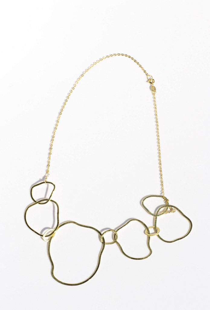 Irregular Circles Short Necklace - Available at Celizzione.com