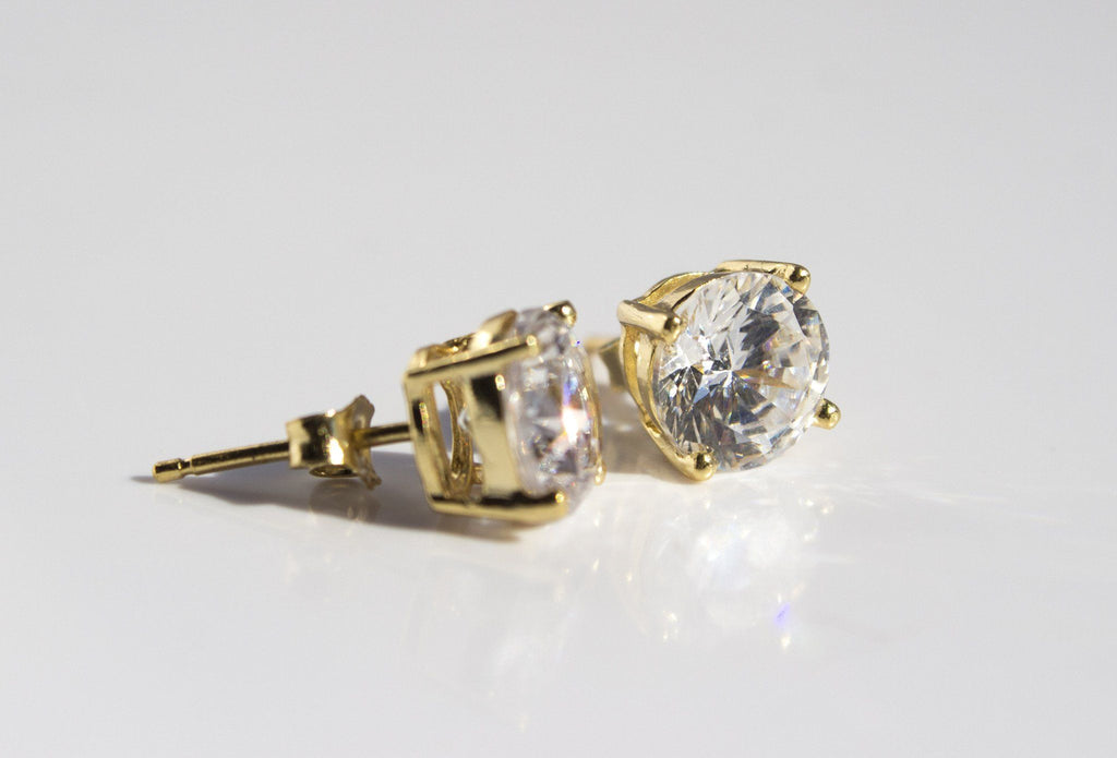 Cubic Zirconia Stud Earrings - Available at Celizzione.com