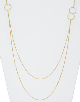 Double Chains & Circles Necklace - Available at Celizzione.com