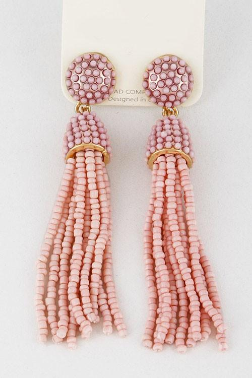 Gold Tassel Earrings - Available at Celizzione.com