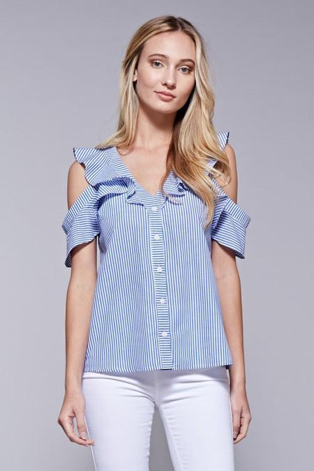 One Shoulder Ruffle Top