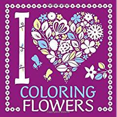 I Heart Coloring Flowers Coloring Book