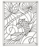 Zendoodle Color-by-Number: Stained Glass: Dazzling Art to Color and Display