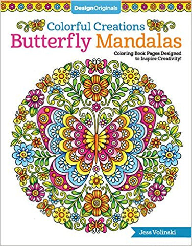 Colorful Creations Butterfly Mandalas Coloring Book