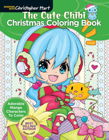 The Cute Chibi Christmas Coloring Book Adorable Manga Characters To Color