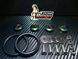 Bumper Quick Release Kit Fastener Fender Guard Clips ( NEO CHROME ) JDM DRIFT