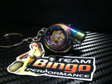 Electronic Spinning Turbo key Ring Chain with LED & Sound Neo Chrome JDM Gift