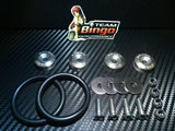 Bumper Quick Release Kit Fastener Fender Guard Clips ( SILVER ) JDM DRIFT DRAG