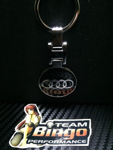 Audi Polished Metal Car Keyring Chains Car Logo Badge Key Rings AU Stock
