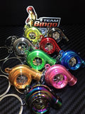 Electronic Spinning Turbo key Ring / Chain with LED & Sound CHROME JDM Gift