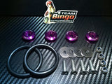 Bumper Quick Release Kit Fastener Fender Guard Clips ( PURPLE ) JDM DRIFT DRAG
