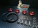Bumper Quick Release Kit Fastener Fender Guard Clips ( RED ) JDM DRIFT DRAG