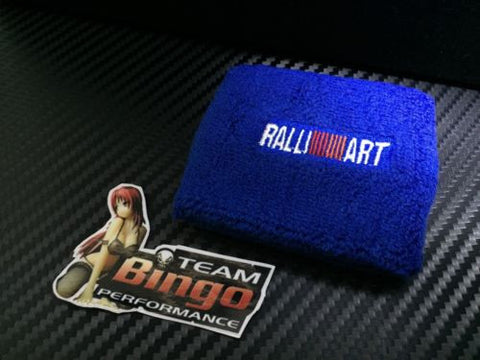 Ralliart Clutch Brake Oil Reservoir Fluid Tank Sock Cover BLUE Wrist Sweat Band