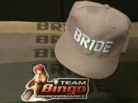 Bride Hat Basball Cap Snap Back Flat Rim JDM ( GREY )