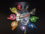Electronic Spinning Turbo key Ring Chain with LED & Sound Chrome Gold JDM Gift