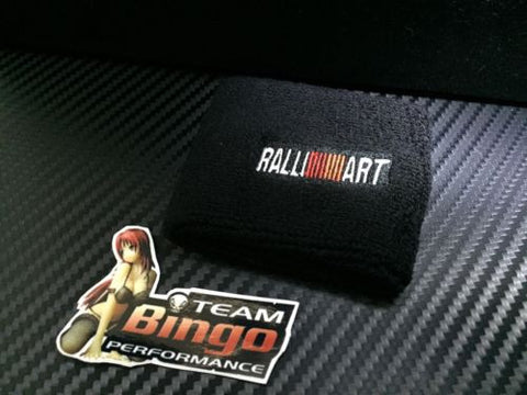 Ralliart Clutch Brake Oil Reservoir Fluid Tank Sock Cover BLACK Wrist Sweat Band