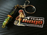 TEIN Style Coilover Suspension Adjustable Damper Key Ring / Chain Green & Gold