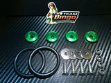 Bumper Quick Release Kit Fastener Fender Guard Clips ( GREEN ) JDM DRIFT DRAG