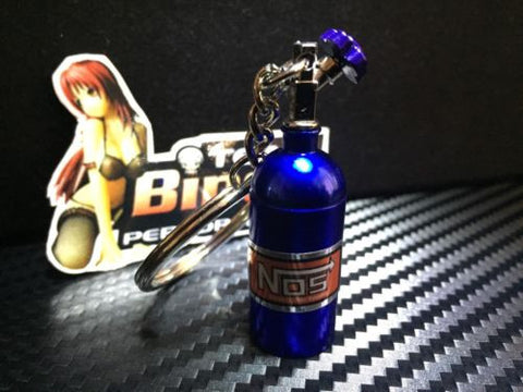 Realistic Mini NOS / Nitrous Oxide Bottle Key Ring / Chain Australian Seller