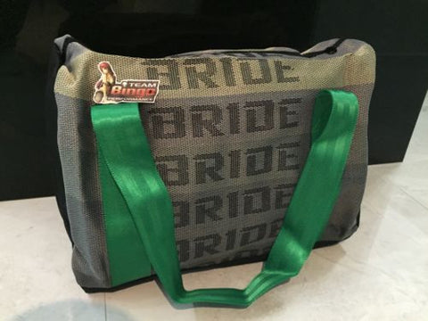 BRIDE Harness Travel Bag Carry On School & Gym JDM Harness Green Straps