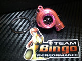 Electronic Spinning Turbo key Ring Chain with LED & Sound Chrome Pink JDM Gift
