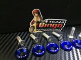 Fender Washers / Bolts ( BLUE ) 8 pack M6 Countersunk Screws JDM