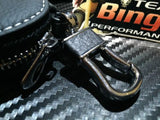 Leather Car Key Remote key Fob Case Holder key Ring / Chain Euro BMW