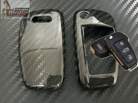 AUDI Real Carbon Fiber Key Cover Case RS3 RS4 RS5 RS6 A4 S3 S4 ( 3 Button )