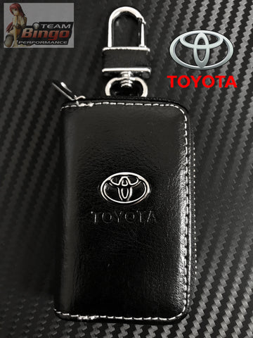 High Quality Toyota Leather Key Fob Case Key Chain FT86 BRZ Prado