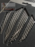 Carbon Fiber Car Door Seal Door Edge Protectors Set of 4