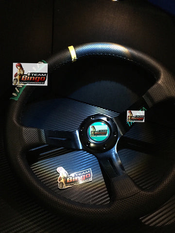 JDM Limited Edition Deep Dish Leather Steering Wheel JDM
