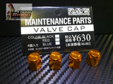 Rays Engineering Wheel Valve Caps Set Blue, Silver, Gold, Purple, Grey, Red & Black