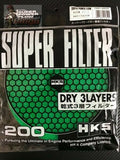 HKS Air Filter Replacement 200mm Green & Red Dry 3 Layer Australian Stock