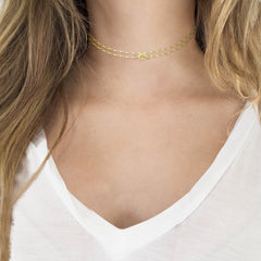 UNO Magnetic Jewelry Gold Link Chain Worn as Choker